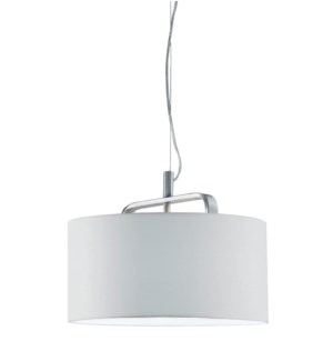 Cannes Pendant with White Shade