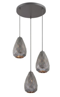 Onyx 3 Light Pendant in Museum Black
