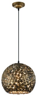 Frieda Pendant in Antique Brass