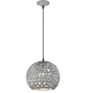 Frieda Pendant in Antique Gray