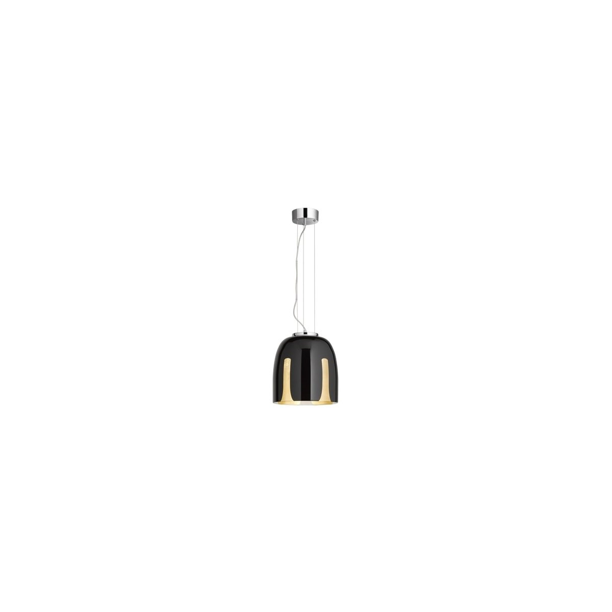 Madeira Small Pendant in Black/Gold Leaf