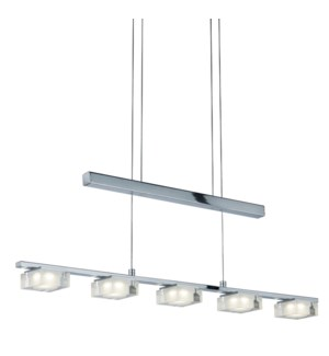 Brooklyn 5 Light Pendant in Chrome