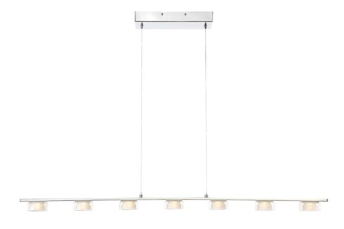 Brooklyn 7 Light Pendant in Chrome