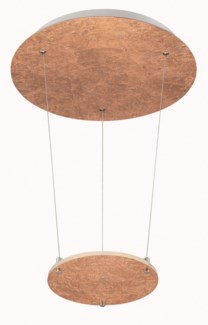 Zenith Pendant in Copper Plated and Silver