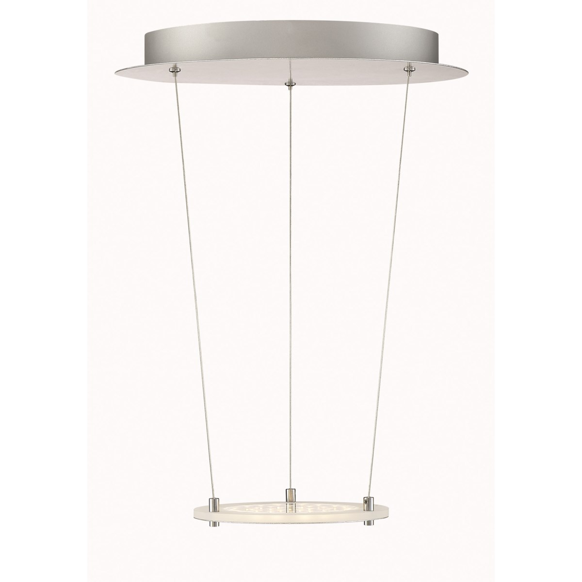 Zenith Pendant in Silver Plated and Chrome