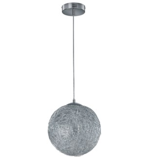 Thunder Small Pendant in Brushed Aluminum