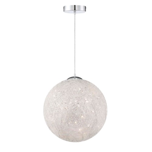 Thunder Large Pendant in Brushed Aluminum