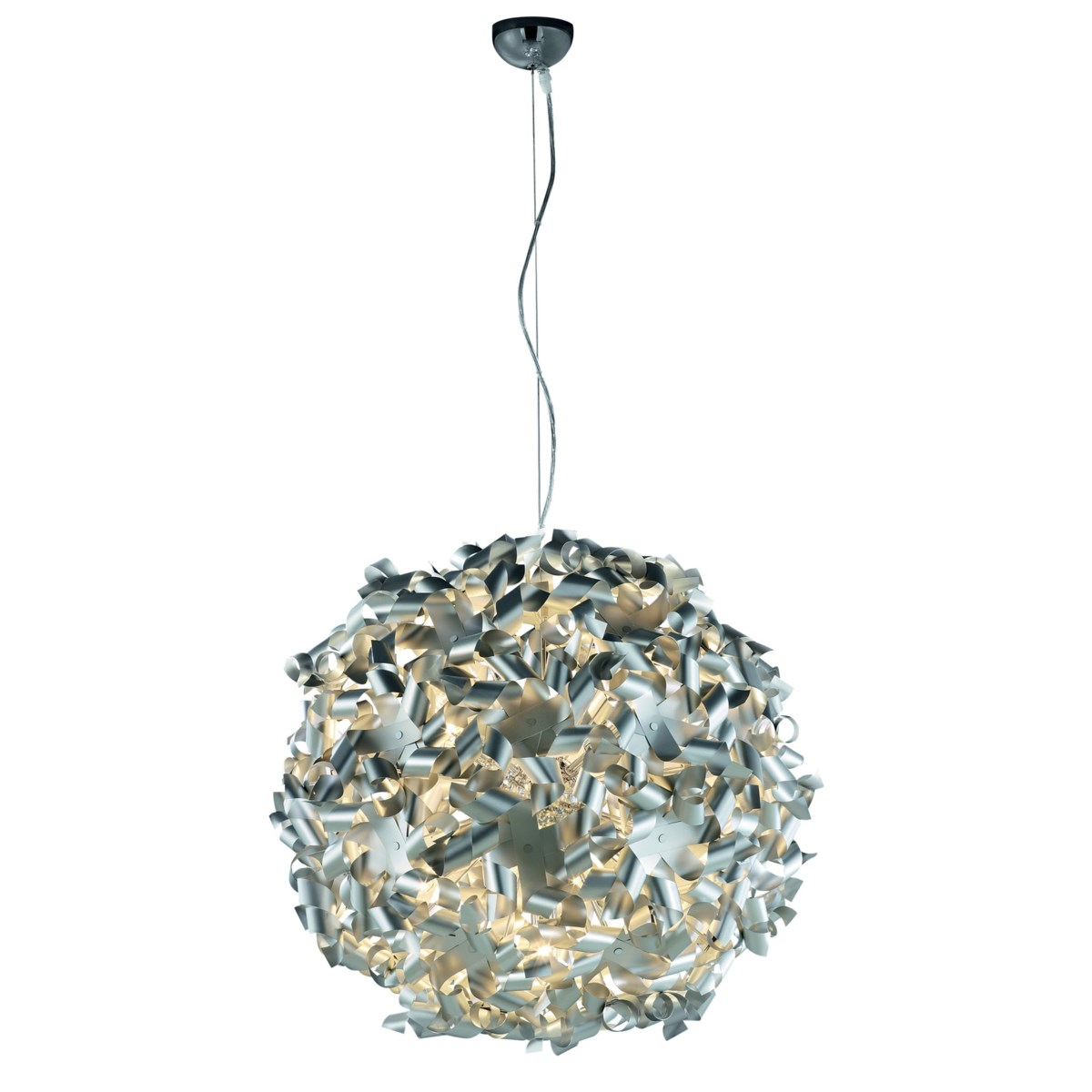 Pinwheel Pendant in Brushed Aluminum