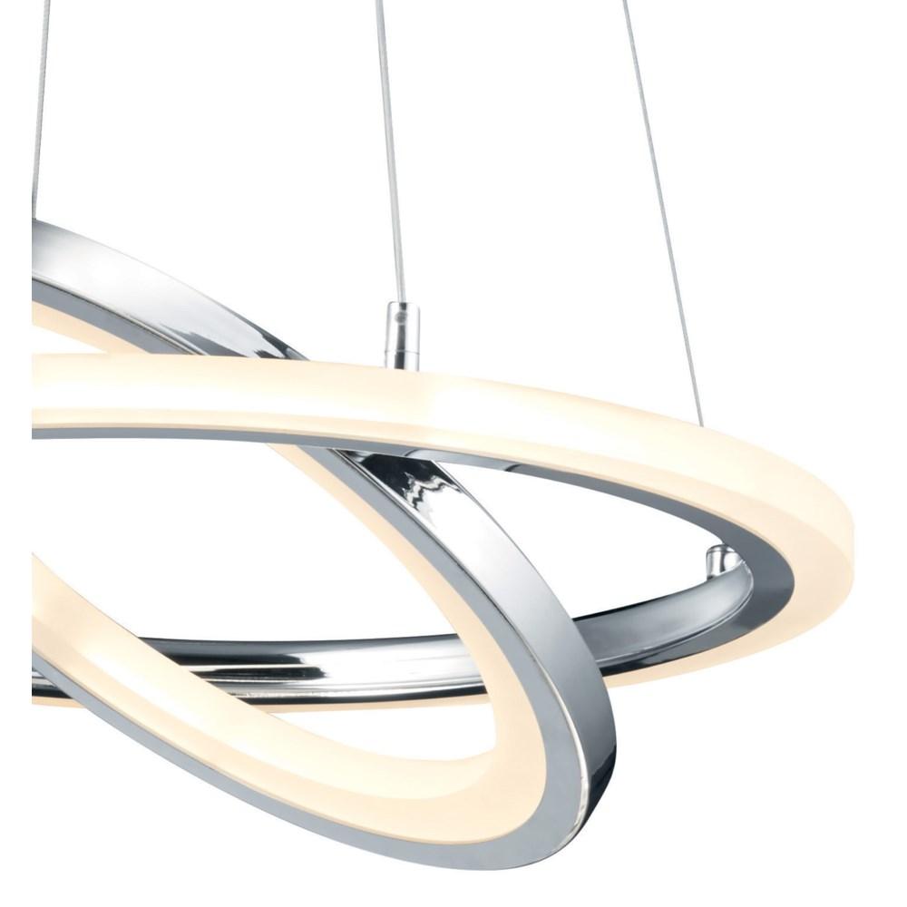 Saturn Pendant in Chrome