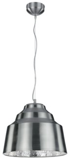 Naples Pendant in Satin Nickel with Cracked Glass