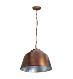 Palermo Pendant in Copper with Painted Silver