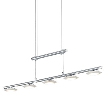 Santiago 5 Light Pendant in Satin Nickel