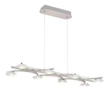 Santiago 8 Light Pendant in Satin Nickel