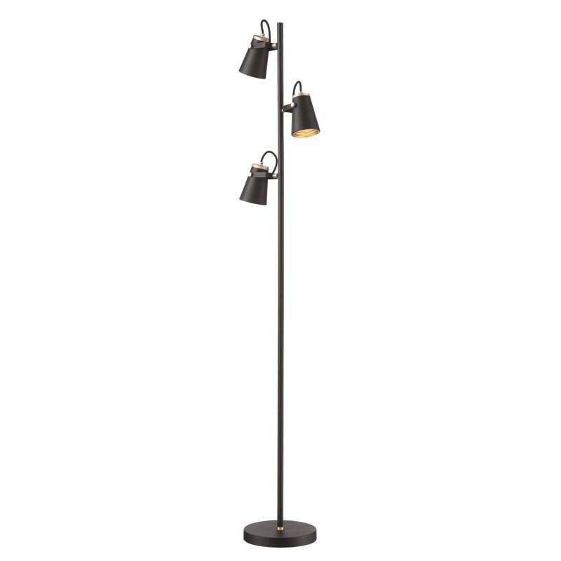 Edward Floor Lamp in Black/Brass