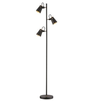 Edward Floor Lamp in Black/Brass