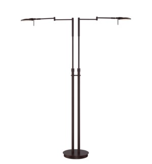 Dessau Turbo Double Floor Lamp in Bronze