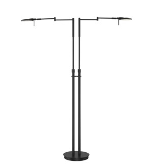 Dessau Turbo Double Floor Lamp in Museum Black
