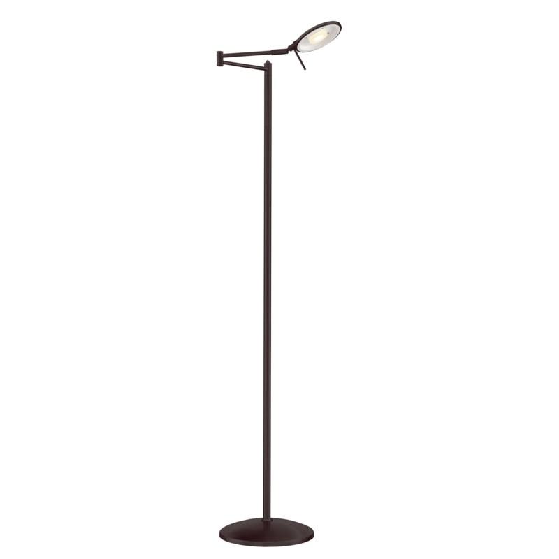 Dessau Turbo Swing-Arm Floor Lamp in Bronze