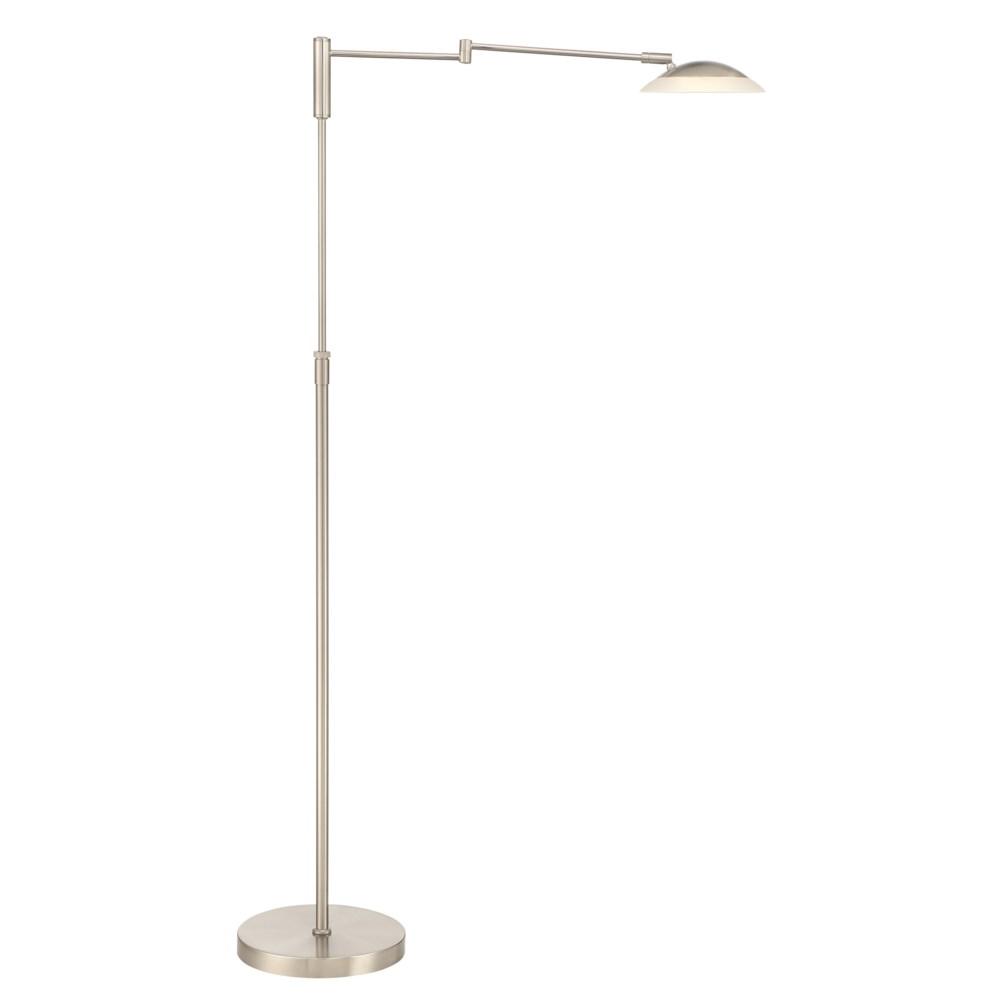 Meran Turbo Floor Lamp in Satin Nickel