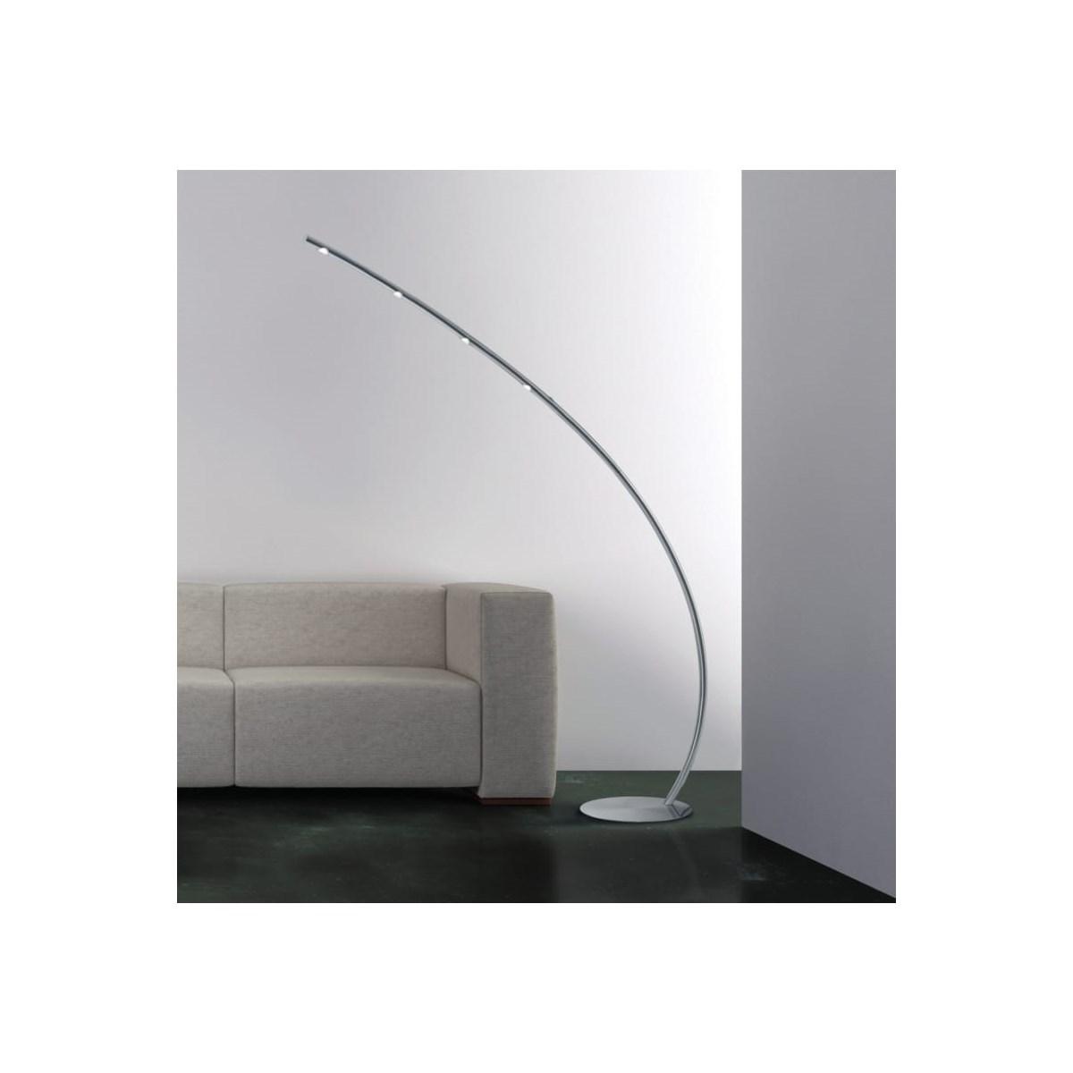 Columbus Floor Lamp in Satin Nickel