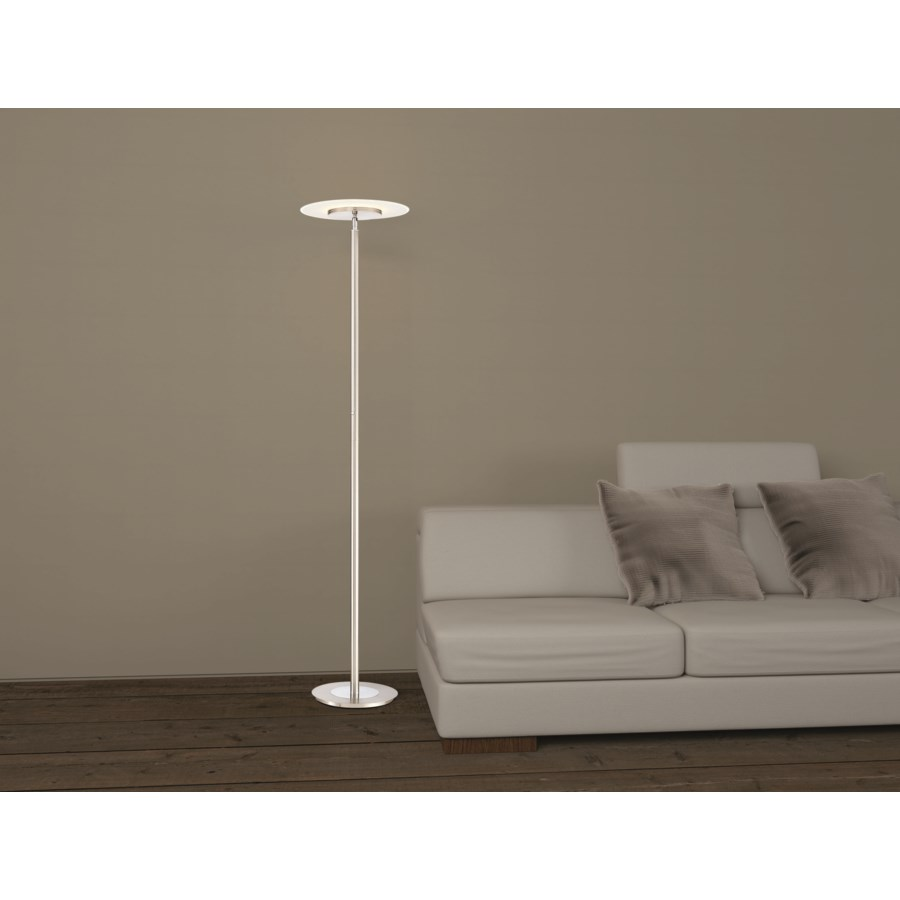 Tampa Single Pole Floor Lamp in Satin Nickel