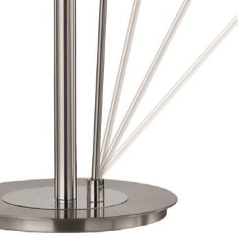 Tampa Double Pole Floor Lamp in Satin Nickel