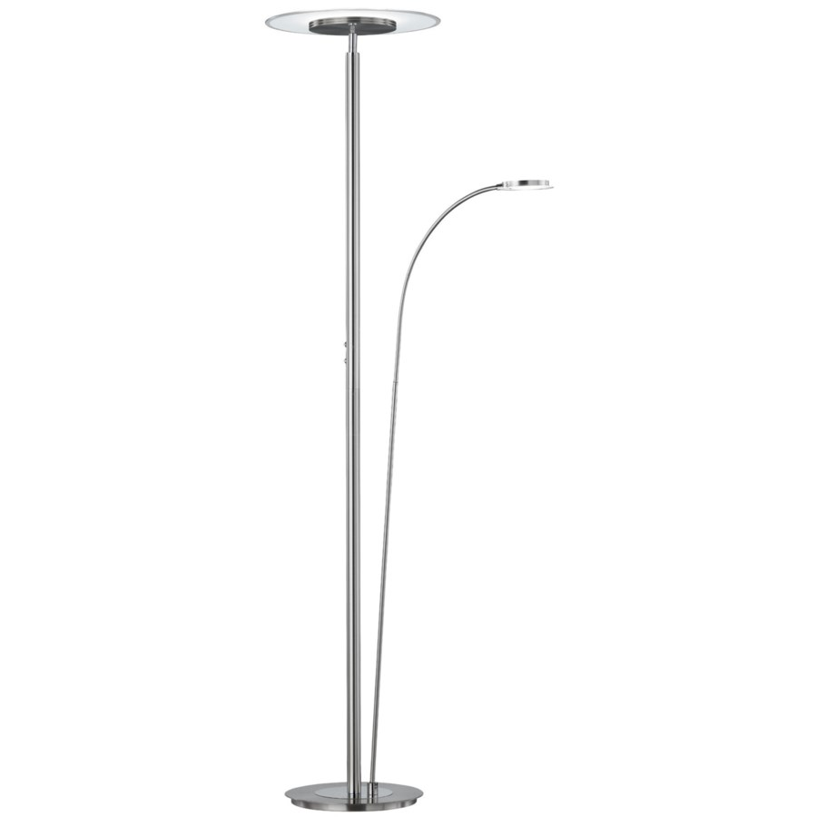 ARG 479110207 Tampa Double Pole Satin Nickel Floor Lamp NEWSTOCK MAY 2019