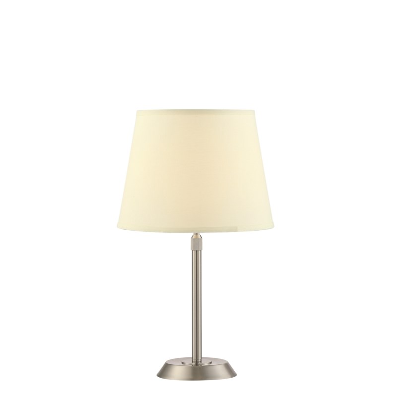 Attendorn Table Lamp with 2 Shades in Satin Nickel