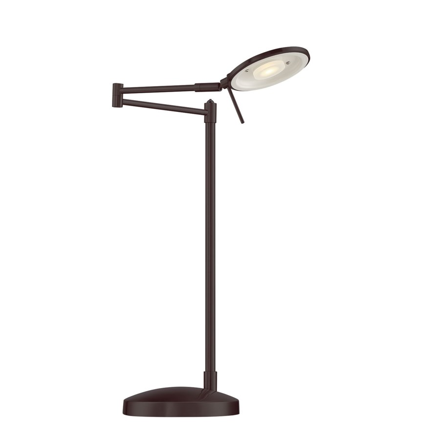 Dessau Turbo Swing-Arm Table Lamp in Bronze