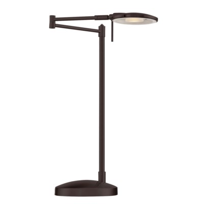 Dessau Turbo Swing Arm Table Lamp In Bronze Table Lamps