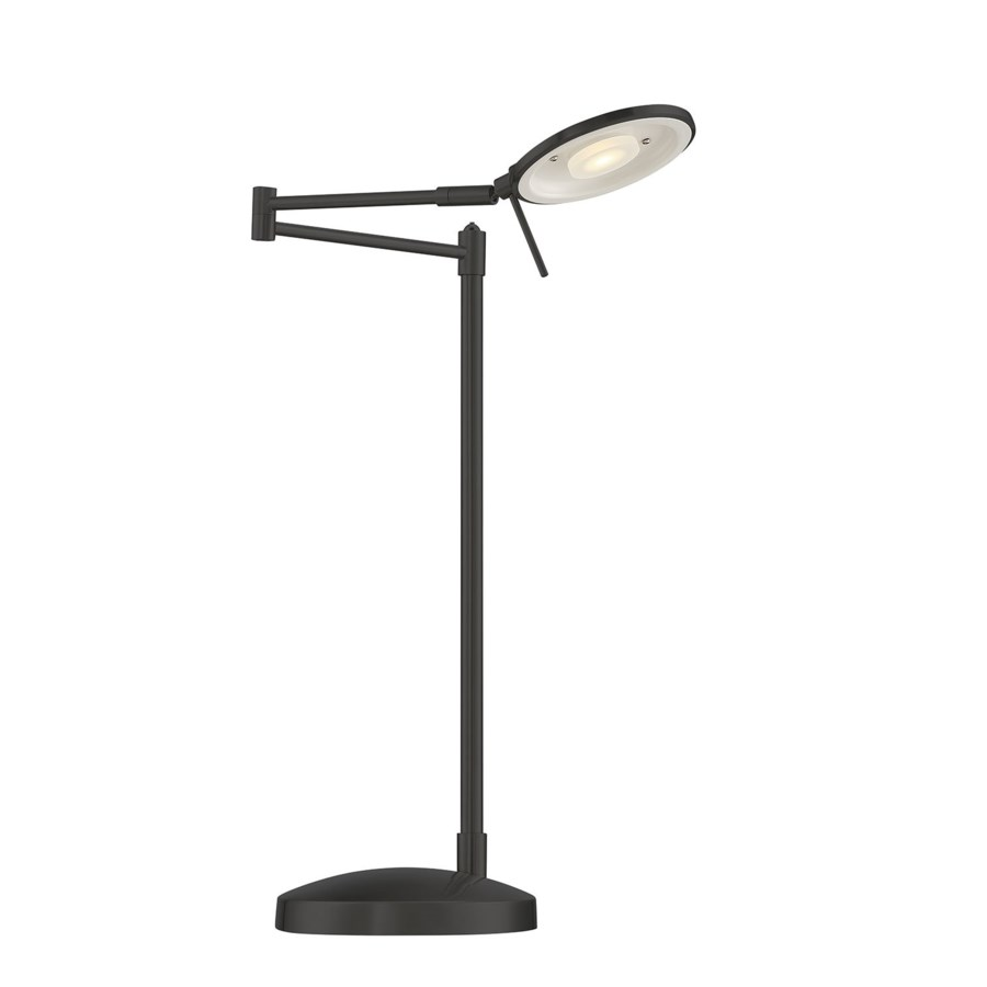 Dessau Turbo Swing-Arm Table Lamp in Museum Black