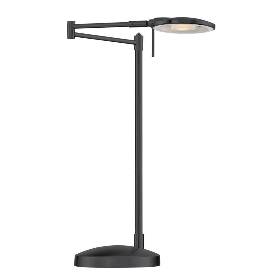 Dessau Turbo Swing-Arm Table Lamp in Museum Black