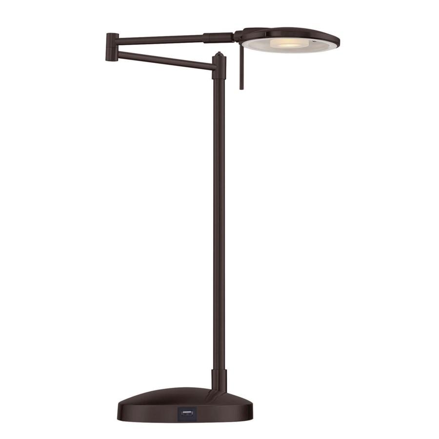 Dessau Turbo Swing-Arm Lamp with USB in Bronze