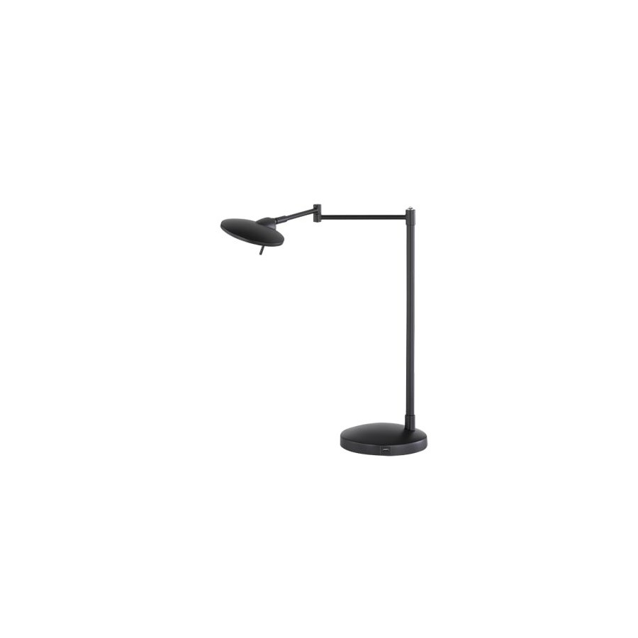 Dessau Turbo Swing-Arm Lamp with USB in Museum Black