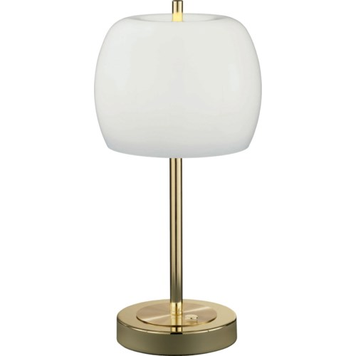 Pear Table Lamp in Polished Brass