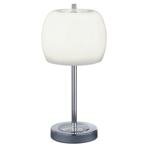 Pear Table Lamp in Satin Nickel
