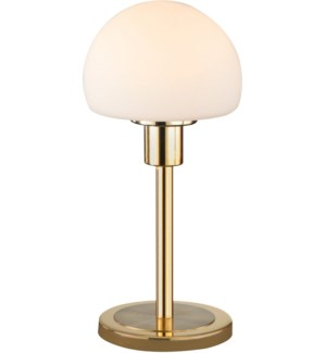 Wilhelm Table Lamp in Satin Brass