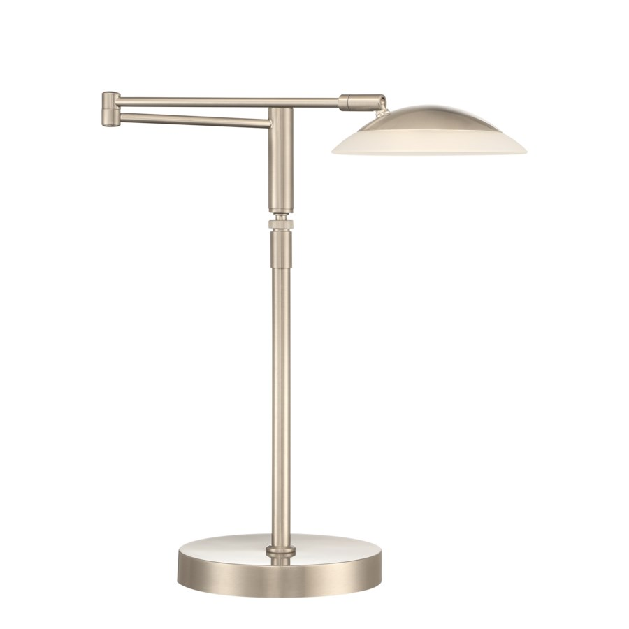 Meran Turbo Table Lamp in Satin Nickel