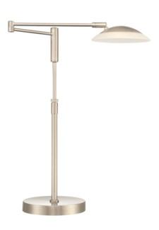 Meran Turbo Table Lamp in Satin Nickel
