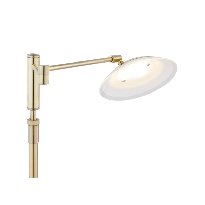 Meran Turbo Table Lamp in Satin Brass
