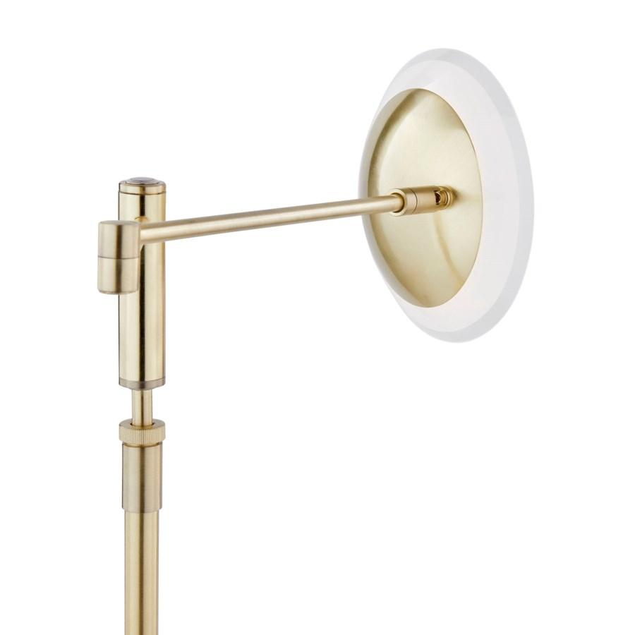 Meran Turbo Table Lamp in Satin Brass