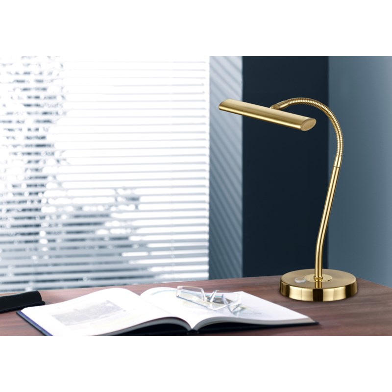 Curtis Desk Lamp in Satin Brass