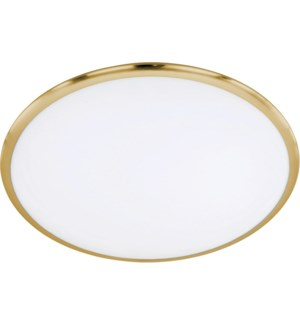 "Seattle 16"" Light Ceiling Mount in Satin Brass"