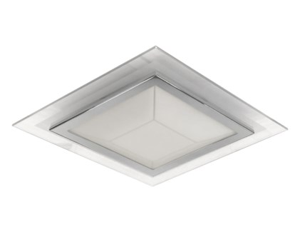 Pyramid 2 Light Ceiling Mount in Chrome