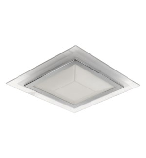 "Pyramid 12"" Ceiling Mount in Chrome"