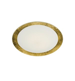 "Vancouver 16"" Flush Mount in Gold Plated"