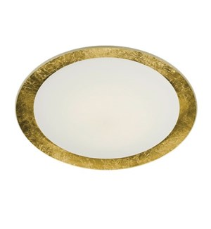 "Vancouver 20"" Flush Mount in Gold Plated"