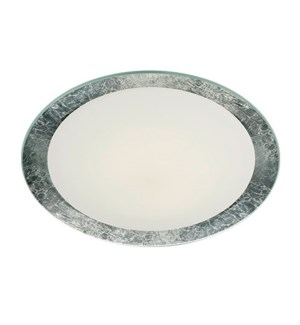 "Vancouver 20"" Flush Mount in Silver Plated"
