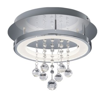 Dorian Small Circular Ceiling Mount in Chrome