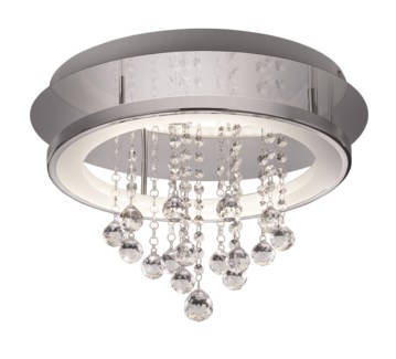 Dorian Large Circular Ceiling Mount in Chrome